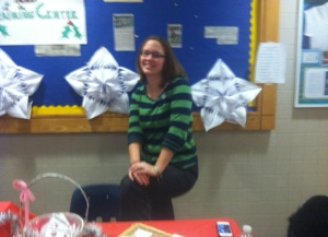 Becky Niman, LABBB Teacher Selling LABBB crafts