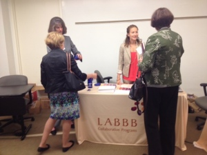 Donna Goodell, LABBB Program Director, and Alyssa Limerick, Assistant Program Director talking about LABBB