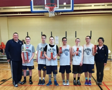 LABB-Basketball-team-with-trophies-2016